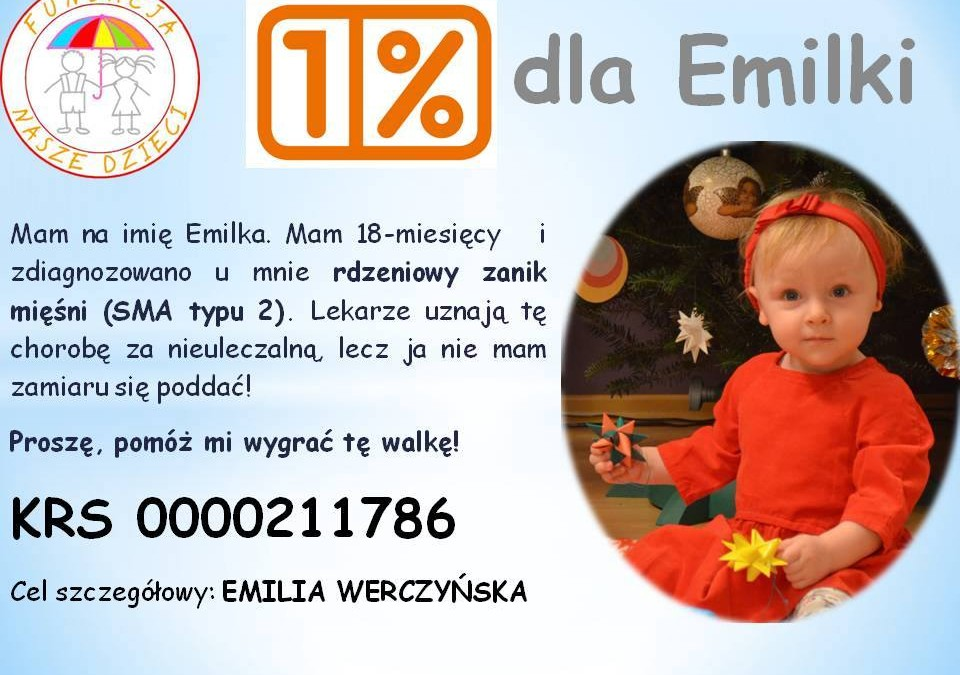 1% dla Emilki